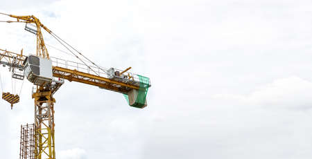 tower crane construction industry background concept, edit tone