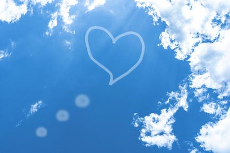 blue sky with white, soft clouds Standard-Bild