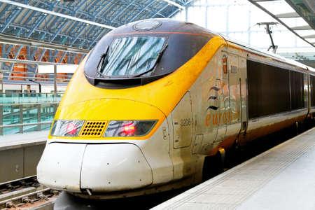 eurostar: Eurostar engine at St.Pancras London station