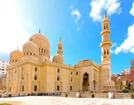 alexandria egypt: Exterior of old mosque in Alexandria  Stock Photo