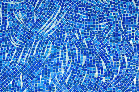 mosaic tiles: Detailed texture of mosaic tiles in blue  Stock Photo