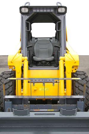 skid steer: Skid steer front loader machine at construction site