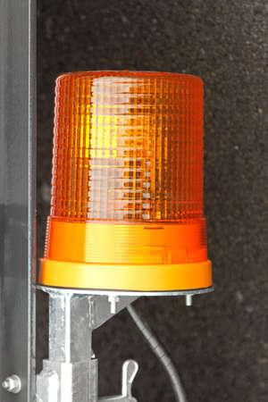 flashing light: Amber warning flashing light beacon at trailer