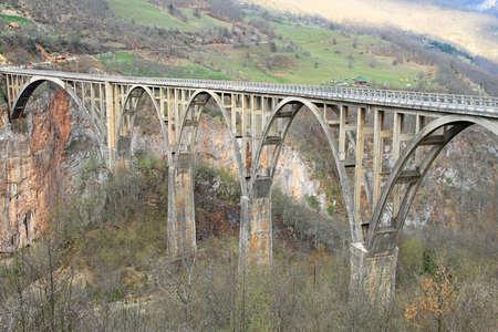 tara: Djurdjevica Tara concrete arch Bridge in Montenegro