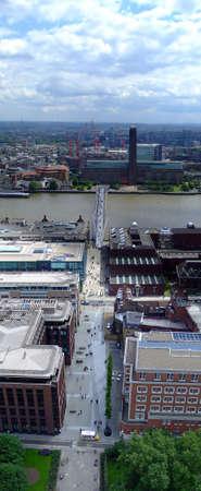 London modern gallery and millennium bridge panorama Stock Photo - 446384