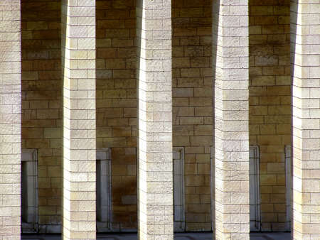tremendous: Columns on the entrance of ancient structure