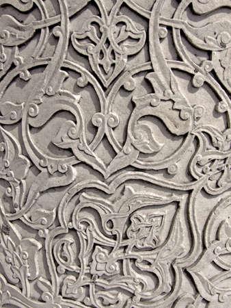 engravings: Detail of floral engraving in marble