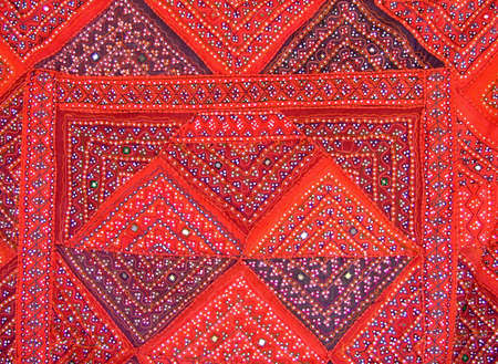 Pattern of a colorful fabric with Islamic motives photo