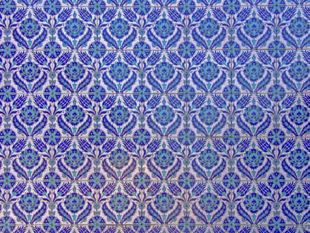 Pattern of Islamic ornaments on tiles Stock Photo