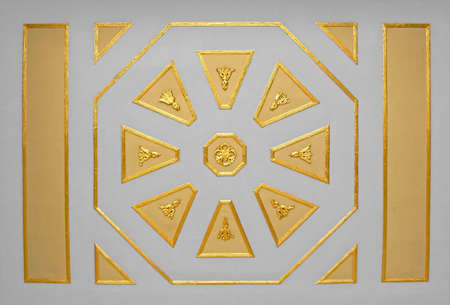 Ceiling in a kings court with golden ornaments photo