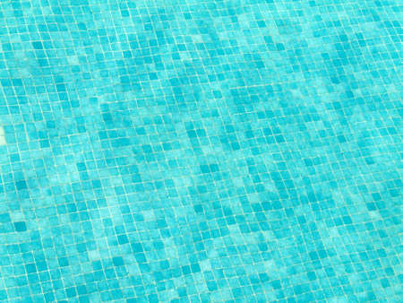 deflect: Texture of tiles on a pool bottom Stock Photo