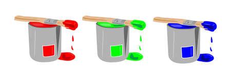 toner: Three paint buckets in RGB pallet