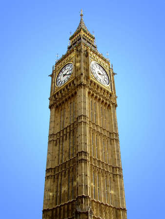 Big Ben tower with a clock with a sky in background Stock Photo - 517320