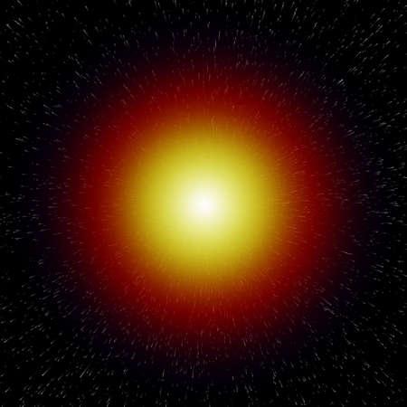 verdunkeln: Shining Star in einer Galaxie