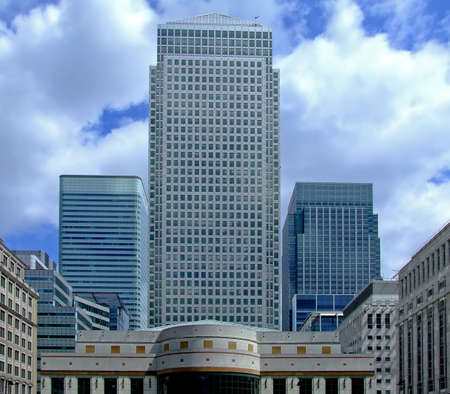 business centre: Modern business centre with office buildings in Canary Wharf