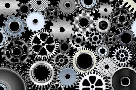 Lot of mechanic gears and wheels 3d Stock Photo - 706341