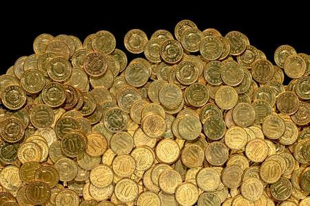 Bunch of Goldmünzen zehn close up
