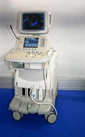 Medical ultrasonic scanner station equipment for monitoring
