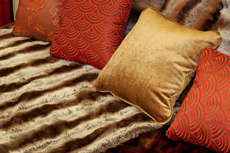 Bunch of pillows and fancy decorative sheets Stock Photo - 2309313