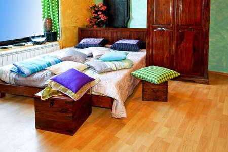 Big bedroom with nice wooden flooring horizontal Stock Photo - 2949657