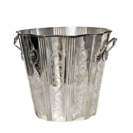 wino: Luxury silver bucket for cooling beverage isolated