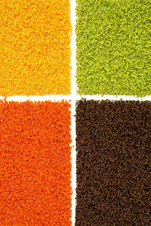 Four patterns of carpet material for flooring photo