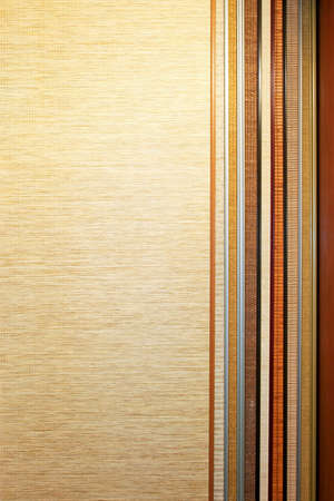 sampler: Bamboo material sampler with several colors sampler Stock Photo