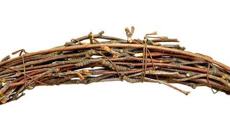 brushwood: Bundle of brush wood isolated on white