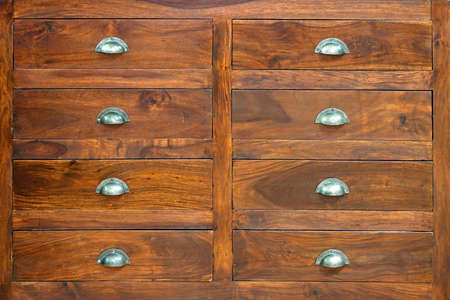 Retro style cabinet with big wooden drawers  photo