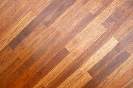 Diagonal Style Of Brown Wooden Parquet Flooring Stock Photo Picture