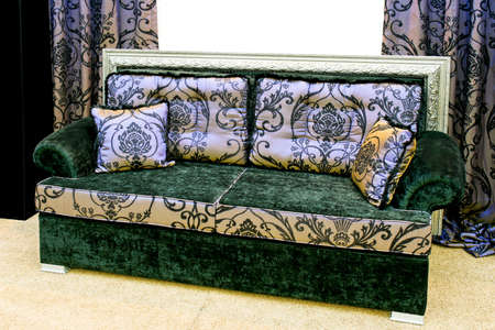 Chic Colorful Sofa With Old Style Fabric Stock Photo   3098831