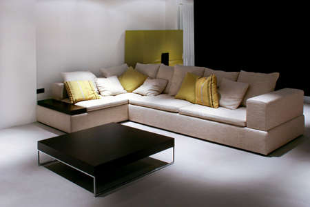 sitting area: Sitting area with big sofa and table