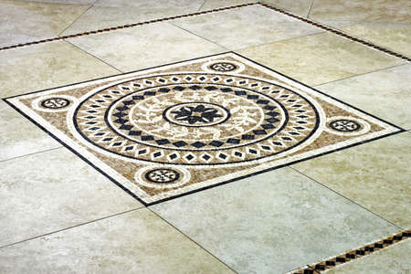 Floor tile mosaic in Italian style angle Stock Photo - 3252902