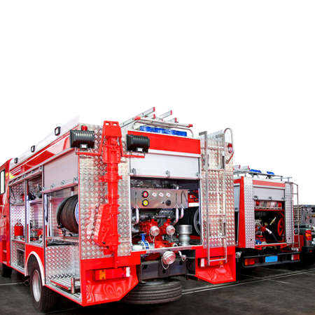 Fire engine truck with lot of equipment Stock Photo - 3299653