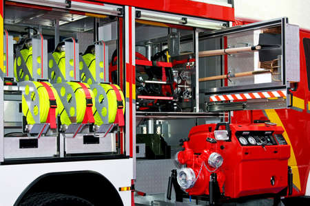 Fire engine truck with lot of rescue equipment Stock Photo - 3299723