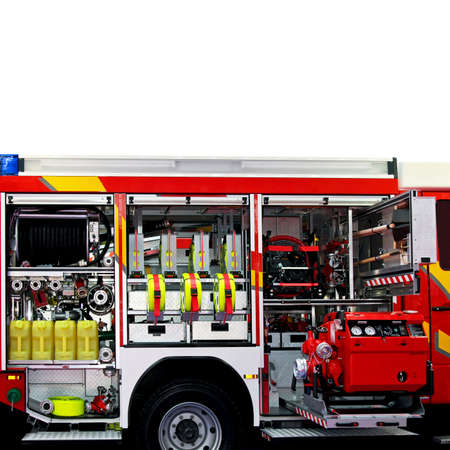 Fire engine truck with lot of rescue equipment Stock Photo - 3299719
