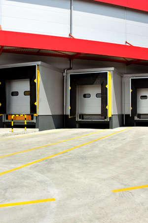 Loading warehouse deck with big cargo doors Stock Photo - 3326849