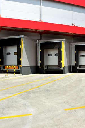 Loading warehouse deck with big cargo doors Stock Photo - 3326849