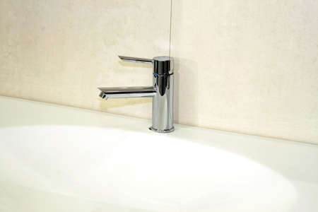 Simple and stylish water pipe silver faucet Stock Photo - 3339385