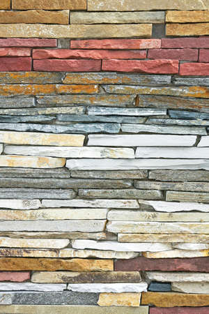 Wall made from natural stones in layers  Stock Photo - 3396419