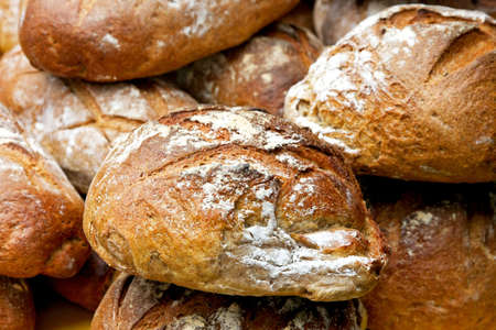 Hand made brown multi seeds bread loafs Stock Photo - 3449627