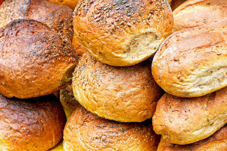 Bunch of loafs and bread on the market Stock Photo - 3449633