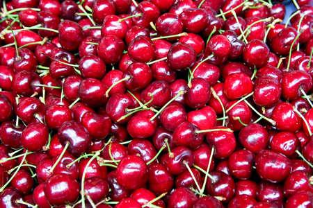 Bunch of fresh natural and organic cherries Stock Photo - 3482620