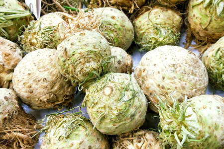 rutabaga: Stack of fresh and organic rutabaga vegetables
