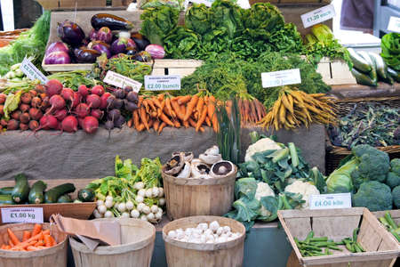 Green market place with lot of vegetables photo