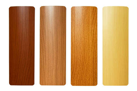 Four maple wood samples in brown palette Stock Photo - 3546771