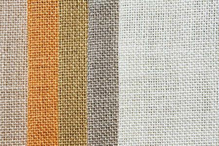 Light tone color palette samples of linen Stock Photo - 3546780