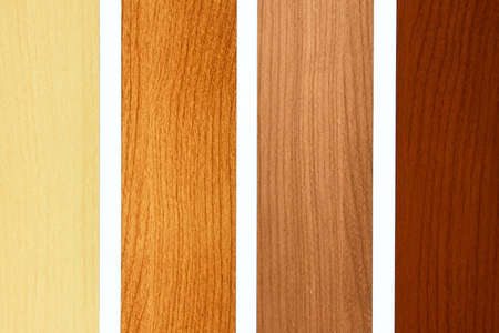 balsa: Four maple wood samples in brown palette