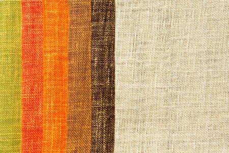 Ton chaleureux palette de couleurs des échantillons de lin