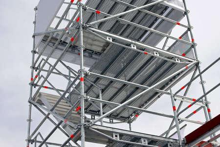 Große Aluminium Gerüste Plattformen für den Hochbau Standard-Bild - 3549088